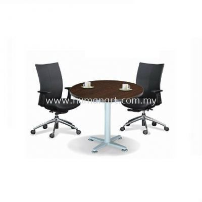 QAMAR ROUND MEETING TABLE / DISCUSSION TABLE METAL BASE