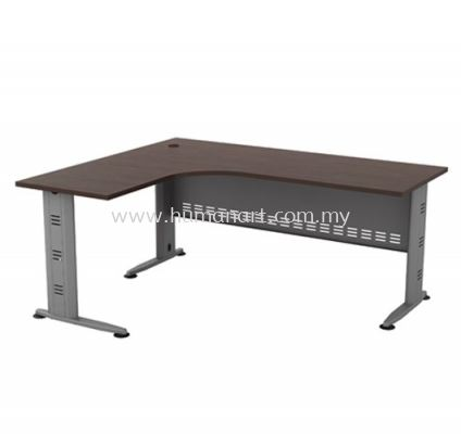 5' x 5' L-SHAPE TABLE METAL J-LEG C/W METAL MODESTY PANEL QL 1515(L)