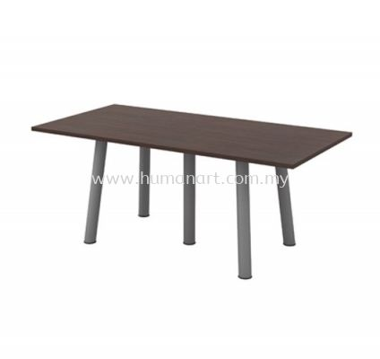RECTANGULAR MEETING TABLE METAL BASE QVE 18