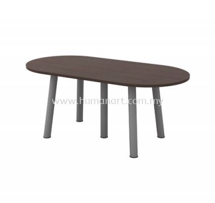 OVAL MEETING TABLE METAL BASE QOE 18