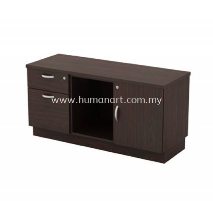 SIDE CABINET C/W FIXED PEDESTAL 1D1F + OPEN SHELF + SWINGING DOOR (R) Q-YRP 6122