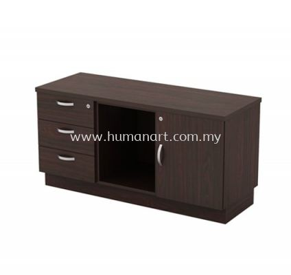 SIDE CABINET C/W FIXED PEDESTAL 3D + OPEN SHELF + SWINGING DOOR (R) Q-YRP 6123
