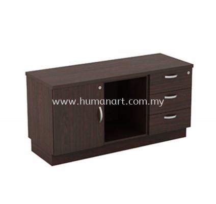 SIDE CABINET C/W FIXED PEDESTAL 3D + OPEN SHELF + SWINGING DOOR (L) Q-YLP 6123