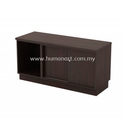 SIDE CABINET C/W OPEN SHELF + SLIDING DOOR Q-YOS 6120