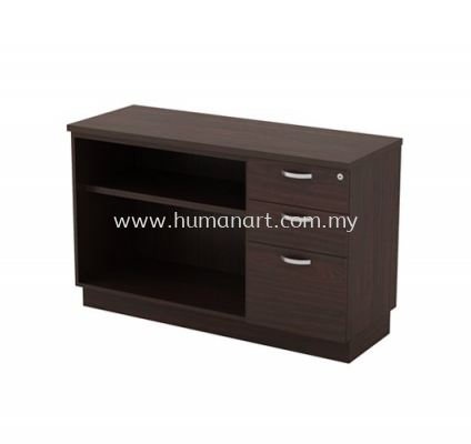 SIDE CABINET C/W OPEN SHELF + FIXED PEDESTAL 2D1F Q-YOP 7123