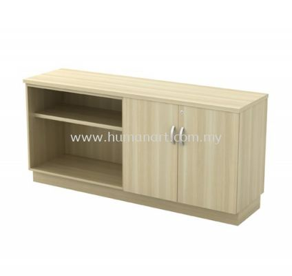 SIDE CABINET C/W OPEN SHELF + SWINGING DOOR LOW CABINET Q-YOD 7160