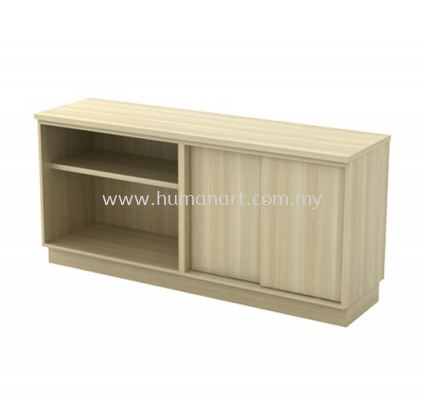 SIDE CABINET C/W OPEN SHELF + SLIDING DOOR LOW CABINET Q-YOS 7160