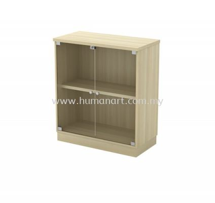 LOW CABINET C/W SWINGING GLASS DOOR EX-YG 9