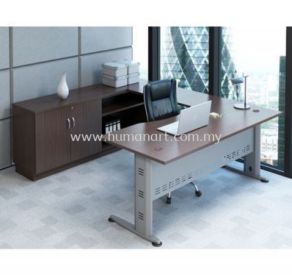 EXECUTIVE TABLE C/W CABINET SET QMB 11