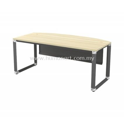 EXECUTIVE TABLE WITH METAL PYRAMID LEG C/W STEEL MODESTY PANEL OMB 180A