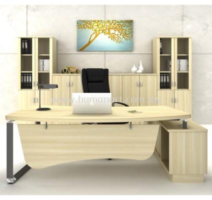 DIRECTOR TABLE METAL PYRAMID LEG C/W WOODEN MODESTY PANEL Q-OXL 2462- FULL SET