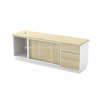SIDE CABINET C/W OPEN SHELF + SLIDING DOOR + FIXED PEDESTAL 1D1F (W/O HANDLE) B-YOSP 1626