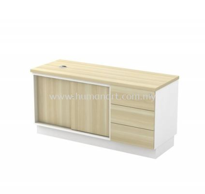 SIDE CABINET C/W SLIDING DOOR + FIXED PEDESTAL 3D (W/O HANDLE) B-YSP 1236 (E)