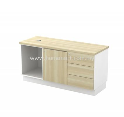 SIDE CABINET C/W OPEN SHELF + SWINGING DOOR (R) + FIXED PEDESTAL 3D (W/O HANDLE) B-YRP 1236