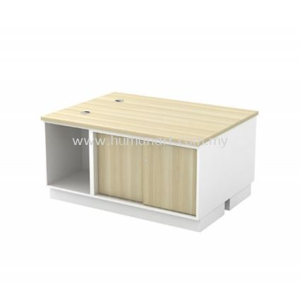 SIDE CABINET C/W OPEN SHELF + SLIDING DOOR FOR 2 PERSON B-YOS 1206-2