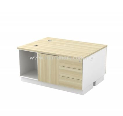 SIDE CABINET C/W OPEN SHELF + SWINGING DOOR + FIXED PEDESTAL 3D FOR 2 PERSON (W/O HANDLE) B-YDP 1236-2 (E)