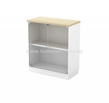 LOW CABINET C/W SWINGING GLASS DOOR B-YG 9