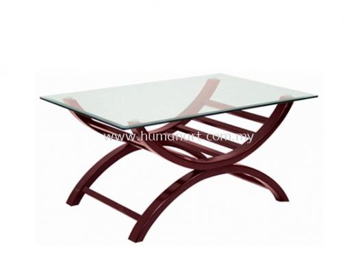 ALEXIS RECTANGULAR COFFEE TABLE C/W TEMPERED GLASS TABLE TOP