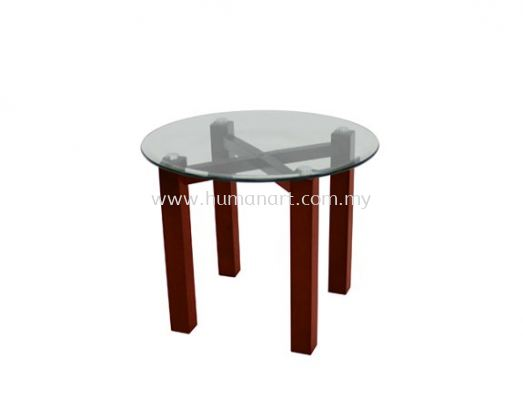 CONNEXION ROUND COFFEE TABLE C/W TEMPERED GLASS TABLE TOP ACL 7711-7T