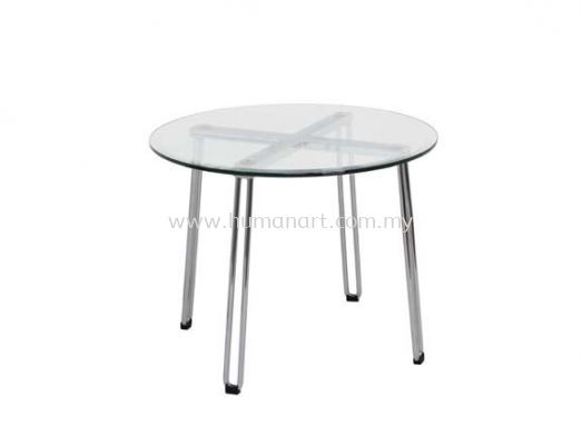 ROUND COFFEE TABLE C/W TEMPERED GLASS TABLE TOP ACL 7733-7T