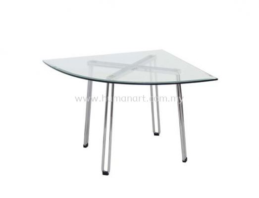 TRIANGLE COFFEE TABLE C/W TEMPERED GLASS TABLE TOP ACL 7733-8T