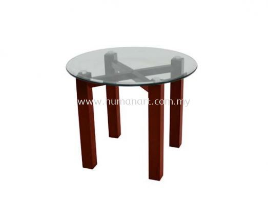 NEXUS ROUND COFFEE TABLE C/W TEMPERED GLASS TABLE TOP ACL 7711-7T