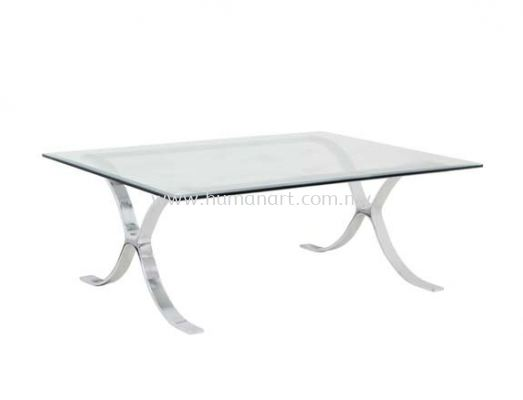 BARCELONA RECTANGULAR COFFEE TABLE C/W TEMPERED GLASS TABLE TOP ACL 9977-5T