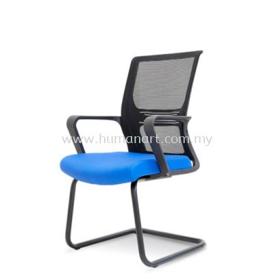 SHANKLIN VISITOR ERGONOMIC MESH CHAIR C/W EPOXY BLACK CANTILEVER BASE