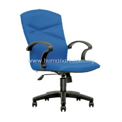 HARMONI STANDARD MEDIUM BACK FABRIC CHAIR C/W POLYPROPYLENE BASE