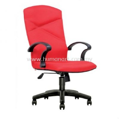 HARMONI STANDARD HIGH BACK FABRIC CHAIR C/W POLYPROPYLENE BASE
