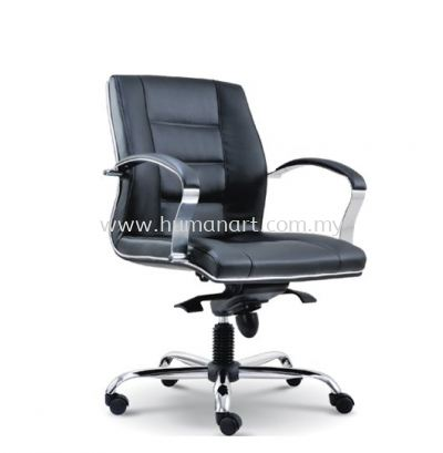 CITRUS DIRECTOR LOW BACK LEATHER CHAIR WITH CHROME TRIMMING LINE ASE 2073