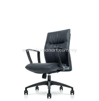 CAMPO DIRECTOR LOW BACK LEATHER CHAIR C/W ROCKET NYLON BASE