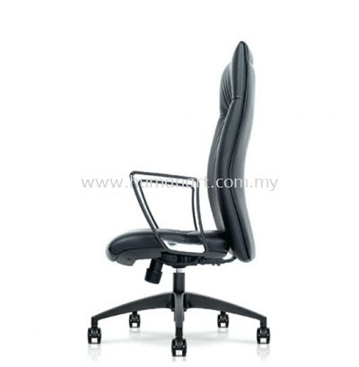 CAMPO DIRECTOR HIGH BACK LEATHER CHAIR C/W ROCKET NYLON BASE
