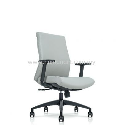 DARQUE EXECUTIVE LOW BACK LEATHER CHAIR C/W ROCKET NYLON BASE