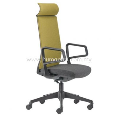 SURFACE HIGH BACK ERGONOMIC SOFTEC CHAIR C/W ROCKET NYLON BASE ASF 8410F FRONT