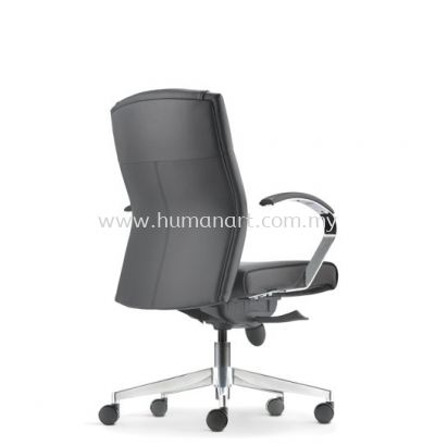 CICO DIRECTOR LOW BACK LEATHER CHAIR C/W ALUMINIUM DIE-CAST BASE