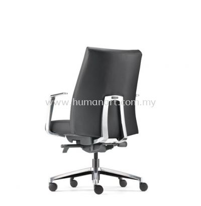 PREMIUM DIRECTOR LOW BACK LEATHER CHAIR WITH ALUMINIUM BASE AND POLISHED ARMREST APM 6312L