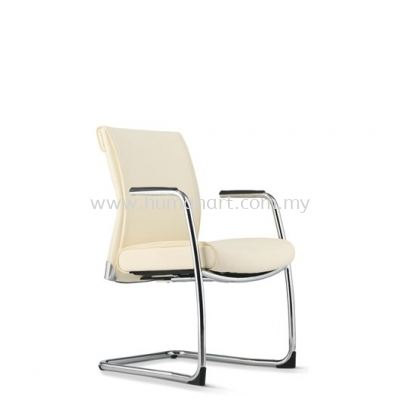 PEGASO EXECUTIVE VISITOR LEATHER CHAIR C/W CHROME CANTILEVER BASE PG-4L