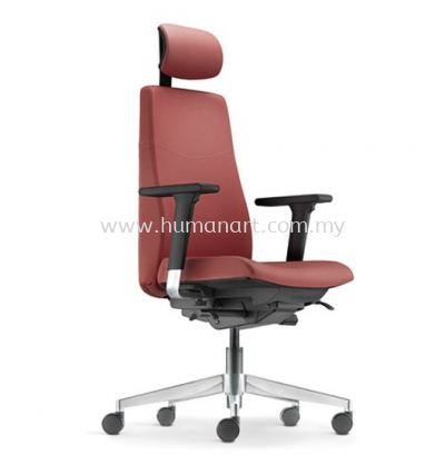 HUGO EXECUTIVE HIGH BACK LEATHER CHAIR WITH ALUMINIUM DIE-CAST BASE AHG 6210L