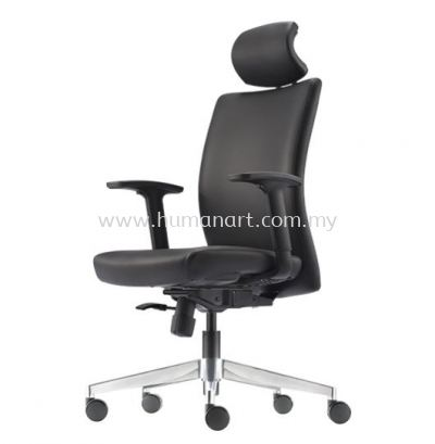 ERGO EXECUTIVE HIGH BACK LEATHER CHAIR WITH ALUMINIUM DIE-CAST BASE ER380L