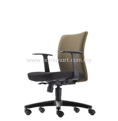 ERGO EXECUTIVE LOW BACK FABRIC CHAIR WITH POLYPROPYLENE BASE ER382F