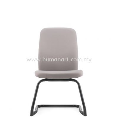 ARONA EXECUTIVE VISITOR FABRIC OFFICE CHAIR W/O ARMREST WITH EPOXY BLACK CANTILEVER BASE - usj | puchong | bangi