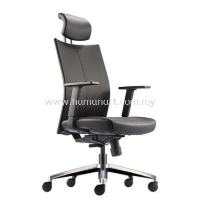 MESH ll EXECUTIVE HIGH BACK LEATHER CHAIR WITH ALUMINIUM DIE-CAST BASE MH-1L