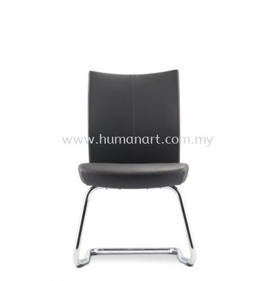 MESH ll EXECUTIVE VISITOR LEATHER CHAIR WITHOUT ARMREST C/W CHROME CANTILEVER BASE MH-5L