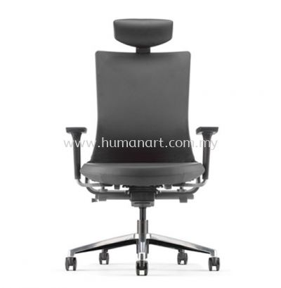 ROYSES HIGH BACK PU ERGONOMIC CHAIR C/W ROCKET ALUMINIUM BASE ARC 8510P