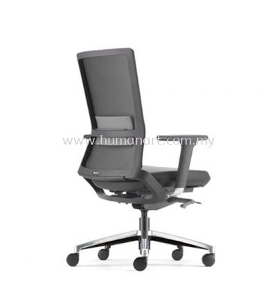 ROYSES MEDIUM BACK PU ERGONOMIC CHAIR C/W ROCKET ALUMINIUM BASE ARC 8511P