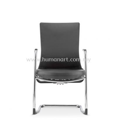 ROYSES VISITOR ERGONOMIC LEATHER CHAIR C/W CHROME CANTILEVER BASE ARC 8513P