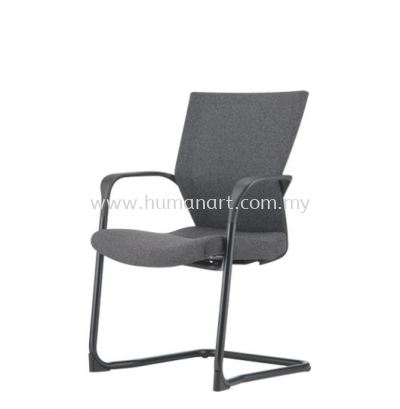 MAXIM VISITOR ERGONOMIC SOFTECH CHAIR C/W EPOXY BLACK CANTILEVER BASE AMX 8113F