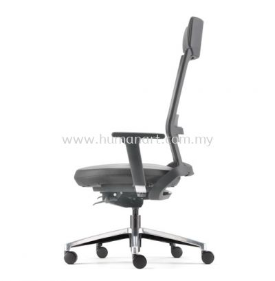 ROYSES HIGH BACK PU ERGONOMIC CHAIR C/W ROCKET ALUMINIUM BASE ARC 8520P