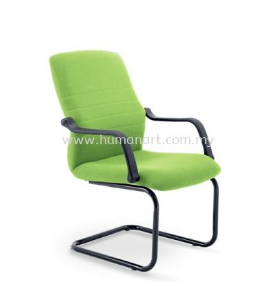 HOLA VISITOR FABRIC CHAIR C/W EPOXY BLACK CANTILEVER BASE
